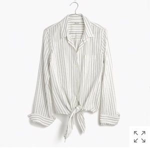 Madewell tie front shirt in Darcy Stripe
